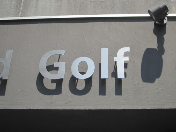 ステンレス切り文字サイン Golf部分