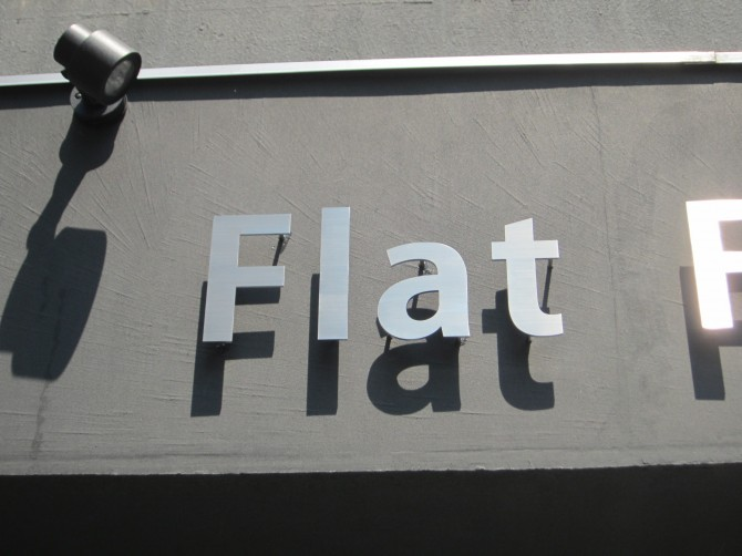 ステンレス切り文字サイン Flat部分