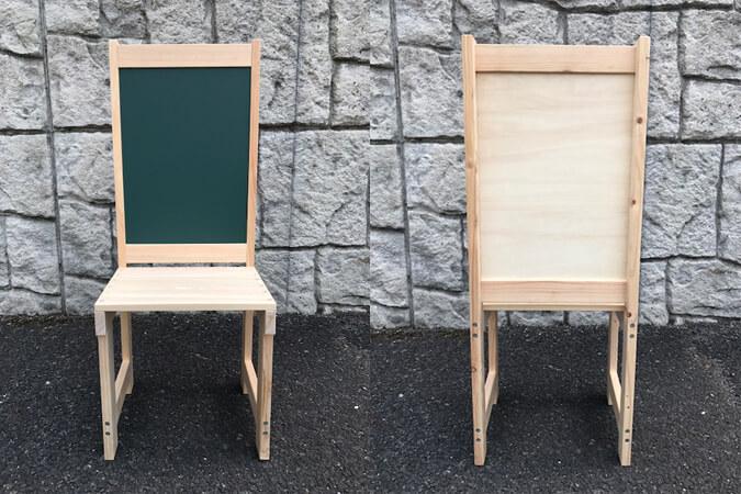 椅子型黒板看板