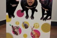 多摩動物公園の顔出し看板
