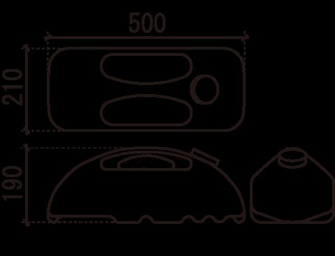 ポリウエイト M-909(満水時1ヶ11kg)