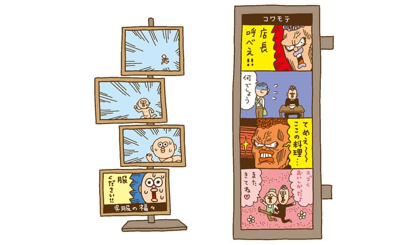 4コマ漫画看板