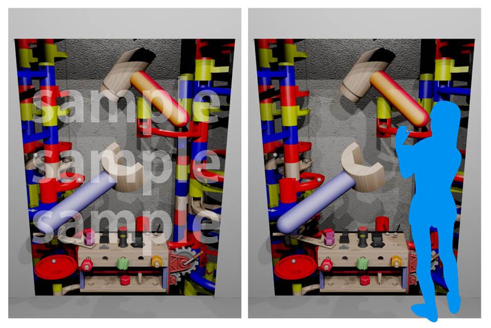 8.おもちゃの機械のトリックデザインアート